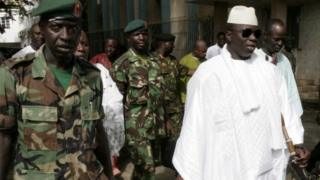Gambian President Yahya Jammeh, in Banjul on 22 September 2006