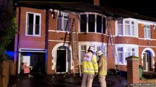 fire at Cardiff house