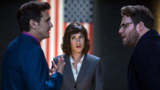 James Franco, Lizzy Caplan and Seth Rogen in The Interview