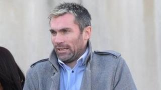 Keith Gillespie going into court