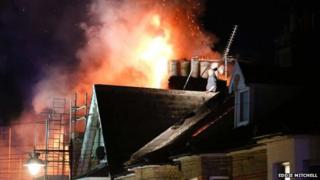 Suspect on top of the flat in Littlehampton