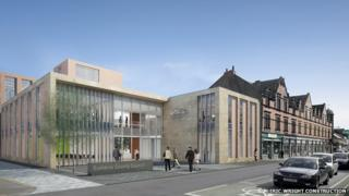 Artist's impression of new Cumbria County Council headquarters