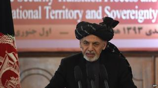 Afghan President Ashraf Ghani in Kabul. 1 Jan 2015