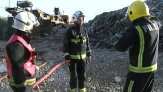 Fire at Waste4Fuel plant in Crittalls Corner
