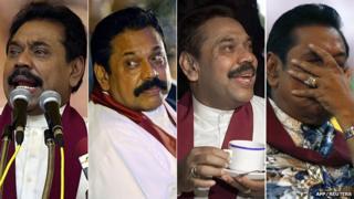 Composite image of Mahinda Rajapaksa
