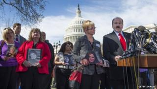 Family members of GM victims hold press conference outside Capitol