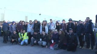 Charity car-meet in Somerset