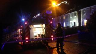 The fire broke out at about 05:45 local time in Galway
