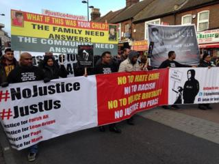 Protest march in Luton