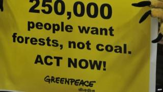 A Greenpeace protest in India