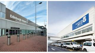 Edinburgh and Glasgow airports