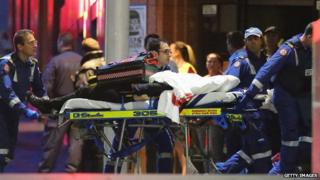 Emergency workers at Sydney cafe siege