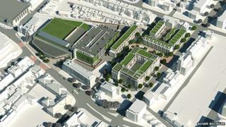 An artists' impression of the development in Cheltenham
