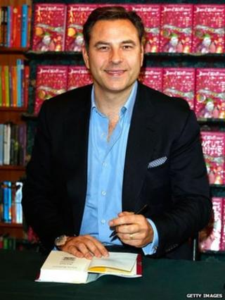 David Walliams with his latest book Awful Auntie