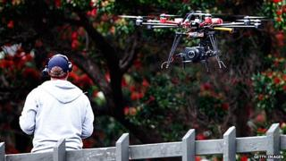 Sky TV drone used for filming sports coverage