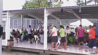 Manus Island detention centre. Picture from Refugee Action Coalition/Reuters