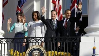 The Camerons and Obamas in 2012