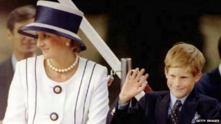 Princess Diana with son Harry in 1995