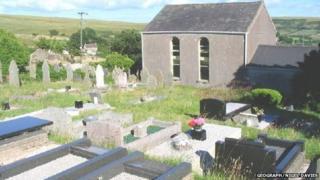 Mountain chapel at Garnswllt