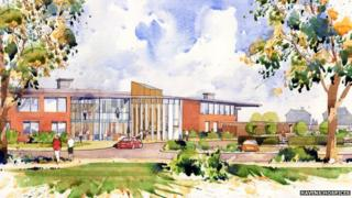 Artist's impression of the Fair Havens Hospice proposals