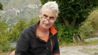 An undated photo of Herve Gourdel taken in the Nice area of southern France