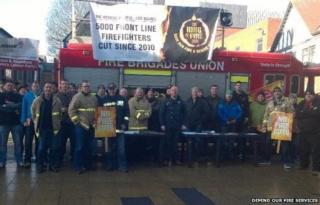 Fire cuts demonstration