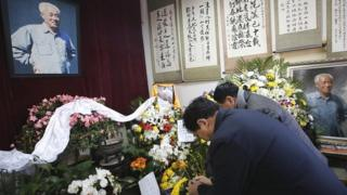 Mourners at Zhao Ziyang's home
