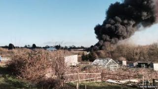 Wollaston recycling centre fire