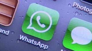 WhatsApp icon on a smartphone