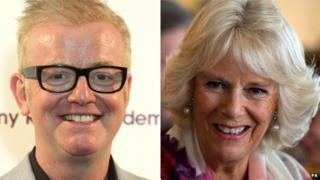 Chris Evans and the Duchess of Cornwall