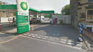 Petrol station on Ferry Road