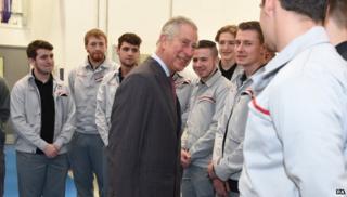 Prince Charles at Nissan in Sunderland
