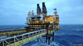 BP platform in North Sea