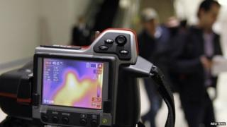 A thermal camera monitoring people