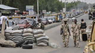 Nigerian military manning checkpoints in Maiduguri, North East Nigeria. (File image)