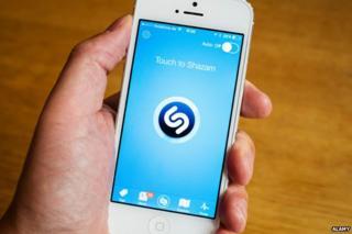 Shazam on a mobile phone