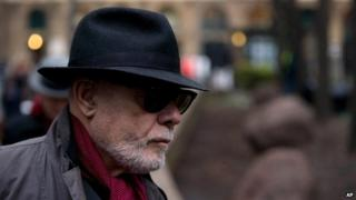 Paul Gadd, aka Gary Glitter, arriving at Southwark Crown Court on 21 January