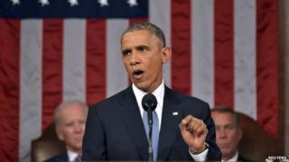 President Barack Obama delivers his State of the Union address to a joint session of Congress on Capitol Hill - 20 January 2015