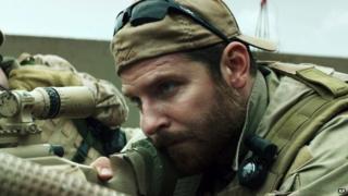 Bradley Cooper plays Chris Kyle in the film American Sniper.
