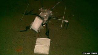 Crashed drug delivery drone