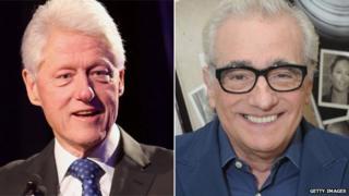 Bill Clinton and Martin Scorsese