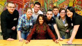 Cheryl Fernandez-Versini with young people