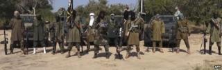 A screengrab from a Boko Haram video - October 2014