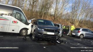 Crash on the M4