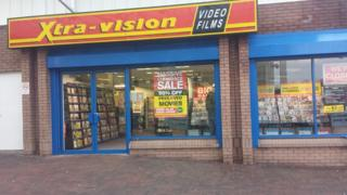 Xtra-vision store at Lisnagelvin in Derry