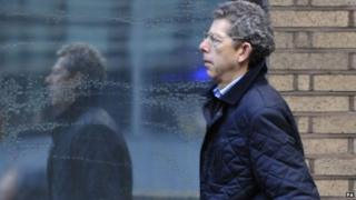 David Lowe arriving at court earlier in January