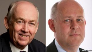 Welsh MPs Wayne David and Albert Owen