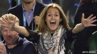 Kim Sears at the Australian Open semi final