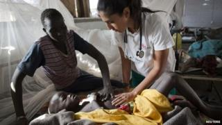 MSF worker in Sudan
