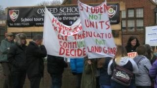 Oxted School protest